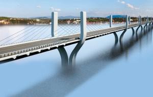 Cable Bridge on Narmada River