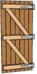 battened-and-ledged-door