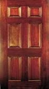 frame and panneled door